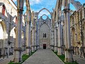 Ruins of Carmo church in Lisbon — Stock Photo