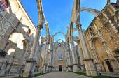 Ruins of Carmo church in Lisbon — Stockfoto