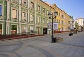 Empty street in Moscow, Russia — Stock Photo
