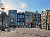 Amsterdam cityscape — Stock Photo