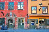 Stockholm houses in central square — Stock Photo