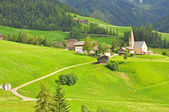 Lonely church in valley — Stock Photo