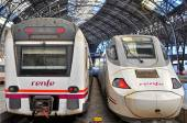 Renfe trains in Barcelona — Stock Photo
