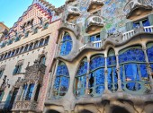 Casa Batllo by Gaudi, Barcelona — Stock Photo