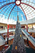 Christmas tree in shopping centre — Stock Photo