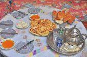Traditional marrocan breakfast — Stock Photo