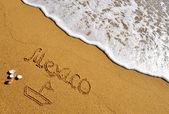 Mexiko beach tecken — Stockfoto