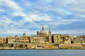 Panorama of Valetta old town — Стоковое фото