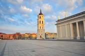 Vilnius cathedral square — Stock Photo