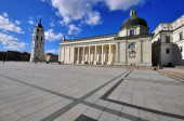 Cathedral square, Vilnius — Stock Photo