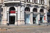 Zara na ulicy Mediolan — Zdjęcie stockowe
