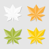 Leaves in origami style — Stock Vector
