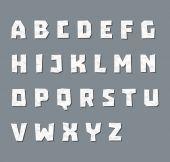 Alphabet in paper style — Stock Vector