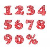 Christmas numbers set — Stock Vector