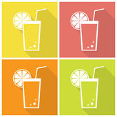 Citrus juice icons — Stock Vector