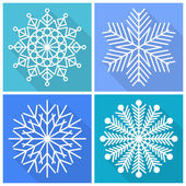 Collection of snowflakes icons — Stock Vector