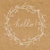Hola la tarjeta de felicitación — Vector de stock