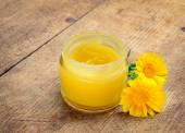 Calendula cream — Stock Photo