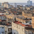 Wide  open view of old antique Cuban Havana city against ocean and sky background at sunset time — Stock Photo #57625799