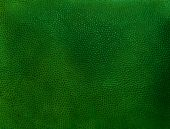 Fragment of old vintage green leather background — Stock Photo