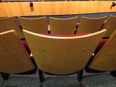 Rear seatbacks in the theater — Stock Photo