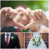 Wedding trivia, details — Stock Photo