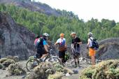 Bicycles on the top of volcano — Foto de Stock