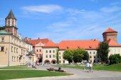 The Gothic Wawel Castle in Krakow in Poland was built from 1333 to 1370 — Zdjęcie stockowe