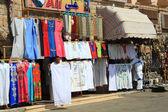 Sociable bazaar street of Egypt — Stock Photo