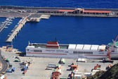 The port of Santa Cruz de la Palma — Stockfoto
