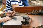 A real handmade cigar — Stock Photo