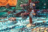 Jewelry with stones and lava stones — Stockfoto