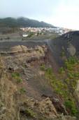 The crater of the San Antonio volcano — Stock Photo