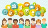 Kids and School — Stock Vector