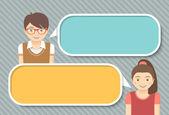 Kinder Dialog Infografiken Elemente für Text — Stockvektor