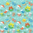 Постер, плакат: Colorful Christmas Pattern with many objects