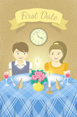 First date — Stock Vector