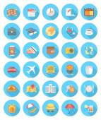 Modern Flat Traveling Icons — Stock Vector