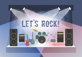 Rock Concert Stage — Stock Vector