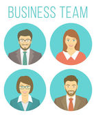 Business people avatars — Stock Vector