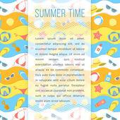 Summer Holidays Flyer Template — Stok Vektör