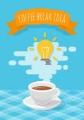 Coffee Break Inspirational Idea — Stock Vector
