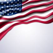 American flag realistic vector — Stock Vector