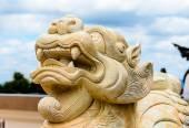Stone Chinese Lion Statue — ストック写真