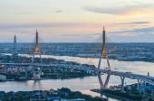 The Bhumibol Bridge of  Thailand — Stock Photo
