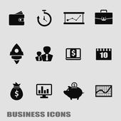 Business template. Finance Web Icons — Stock Vector