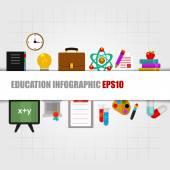 Education concept info graphic design — Wektor stockowy
