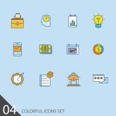 Set of thin line icons for your design — Stock Vector