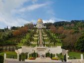 Bahai Tapınağı ve Haifa bahçelerinde — Stok fotoğraf