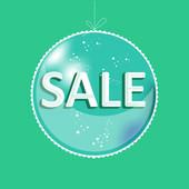 Vánoční prodej pozadí. — Stock vektor